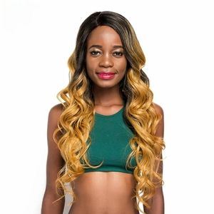Ombre 1B to Blonde Synthetic lace wig